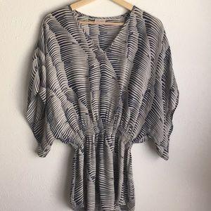 Parker silk striped v neck oversized dolman S